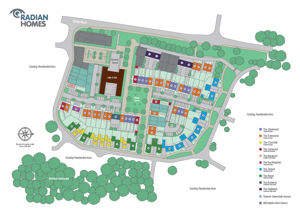 Quebec park new homes in bordon east hampshire for Home site plan