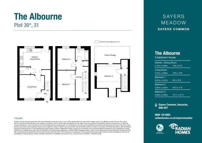 The Albourne floorplan